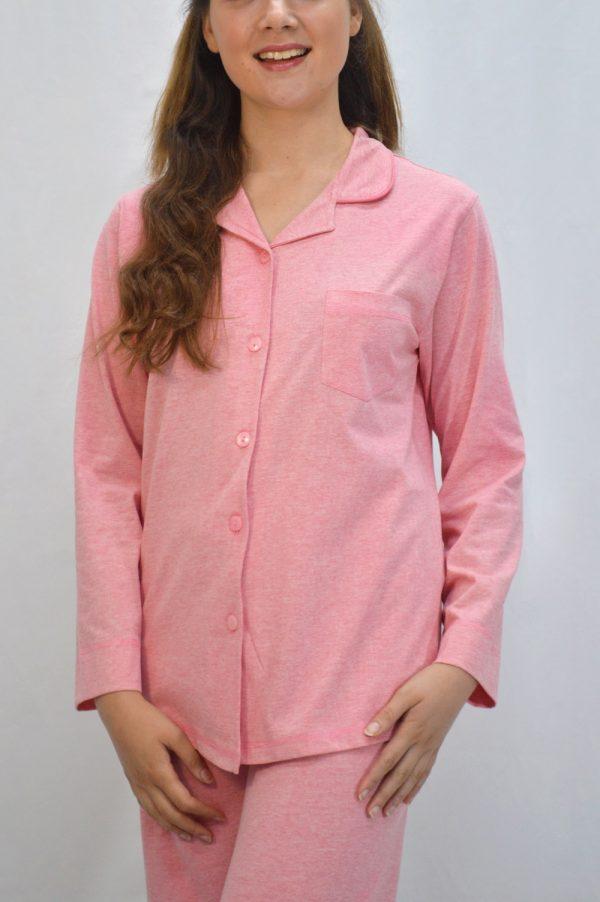pijama modelo camiseiro rosa