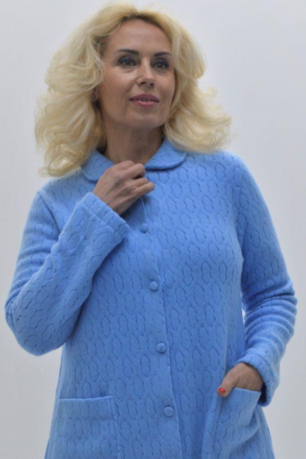 Robe azul em malha jacquard
