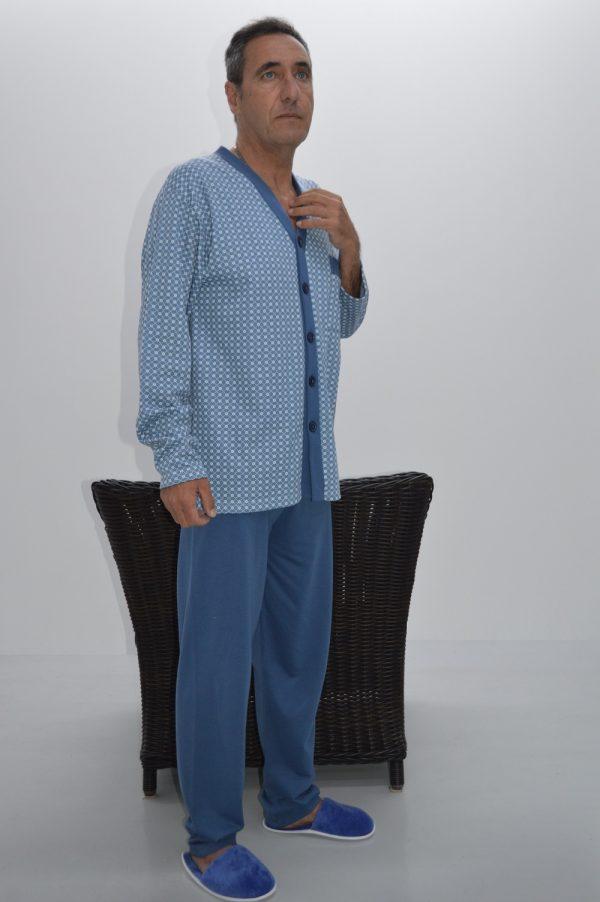 pijama camiseiro clássico, azul