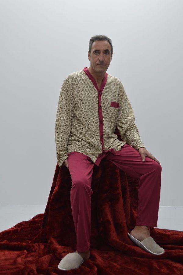 Pijama de homem clássico, camel