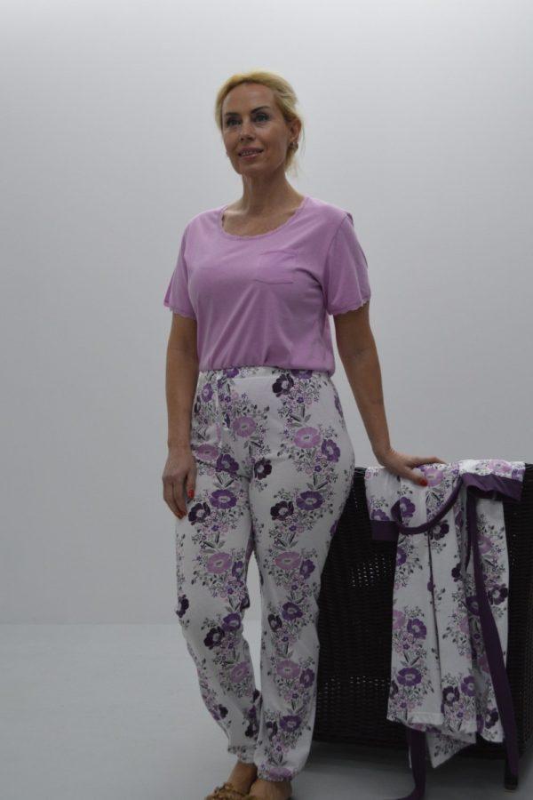 Pijama calça + t-Shirt com renda