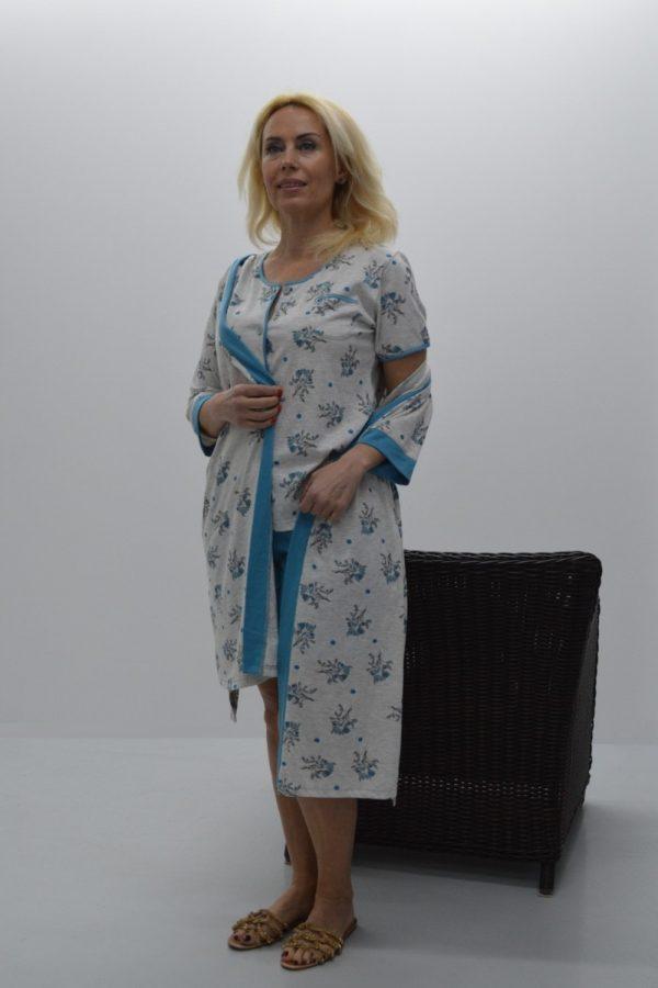 Pijama calção + casaco de manga curta
