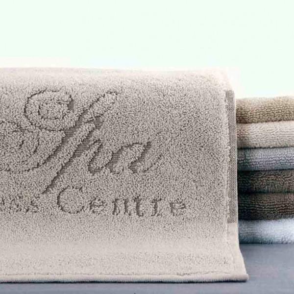 Toalha de spa jacquard com logo