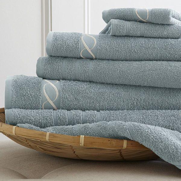 Toalhas de banho com barra jacquard bordadas, toalhas com barra jacquard