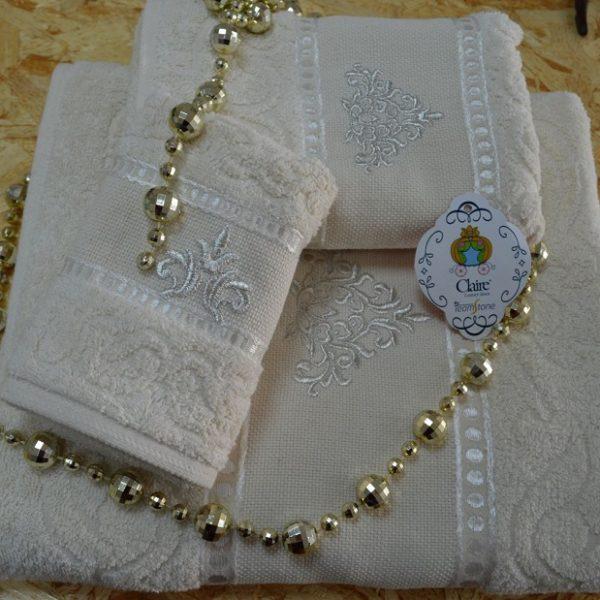 Toalhas de felpo 100% algodão com barra algodão ton/ton bordada.